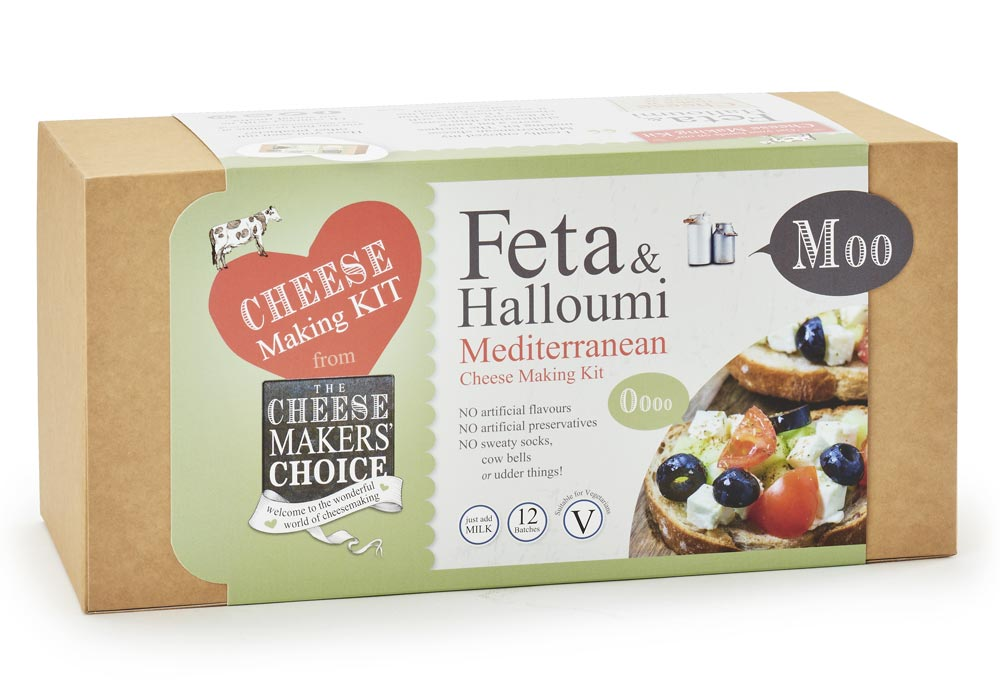 Feta & Halloumi Mediterranean cheese making kit