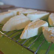 Fresh Halloumi ready to cooking