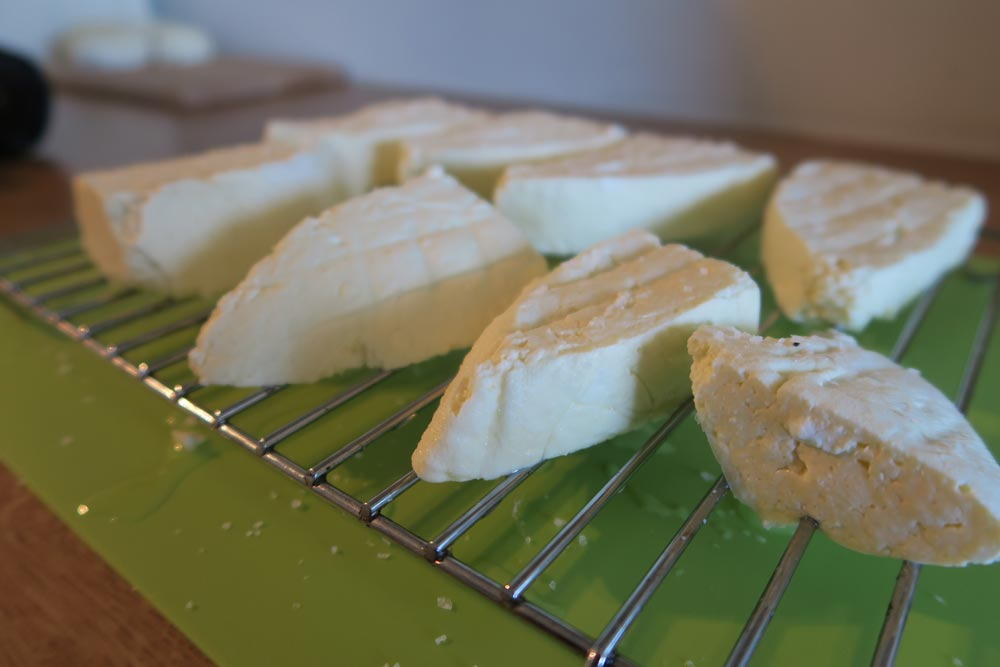 Fresh Halloumi ready to cooking